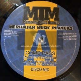 """Messenjah Music Records-10""""-Come Pass / Robel The Earthiopian & Lee Scratch Perry"""