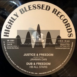 "Highly Blessed Records-12""-Justice And Freedom / Jahman Dan + Justice Melody / Lucadread"