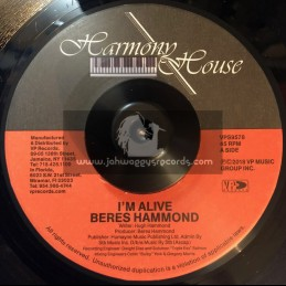 """Harmony House-Vp Records-7""""-Im Alive / Beres Hammond"""