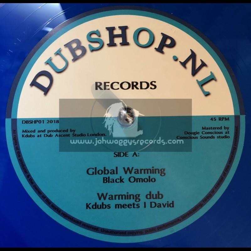 """Dubshop.NL Records-10""""-Global Warming / Black Omolo Meets I David"""