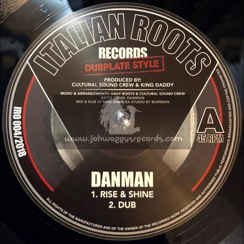 "Italian Roots Records-Dubplate Style-12""-Rise & Shine / Danman + No More War / Idren Natural"