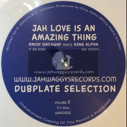 "Jah Waggys Dubplate Selection Vol 11-10""-Jah Love Is An Amazing Thing / David Oneaway Meets King Alpha - White Vinyl"