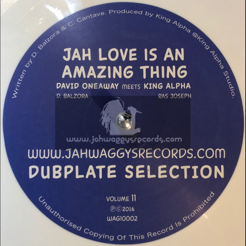 """Jah Waggys Dubplate Selection Vol 11-10""""-Jah Love Is An Amazing Thing / David Oneaway Meets King Alpha - White Vinyl"""