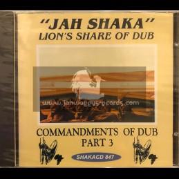 Jah Shaka Music-CD-Commandments Of Dub Part 3 / Lion's Share Of Dub - Jah Shaka