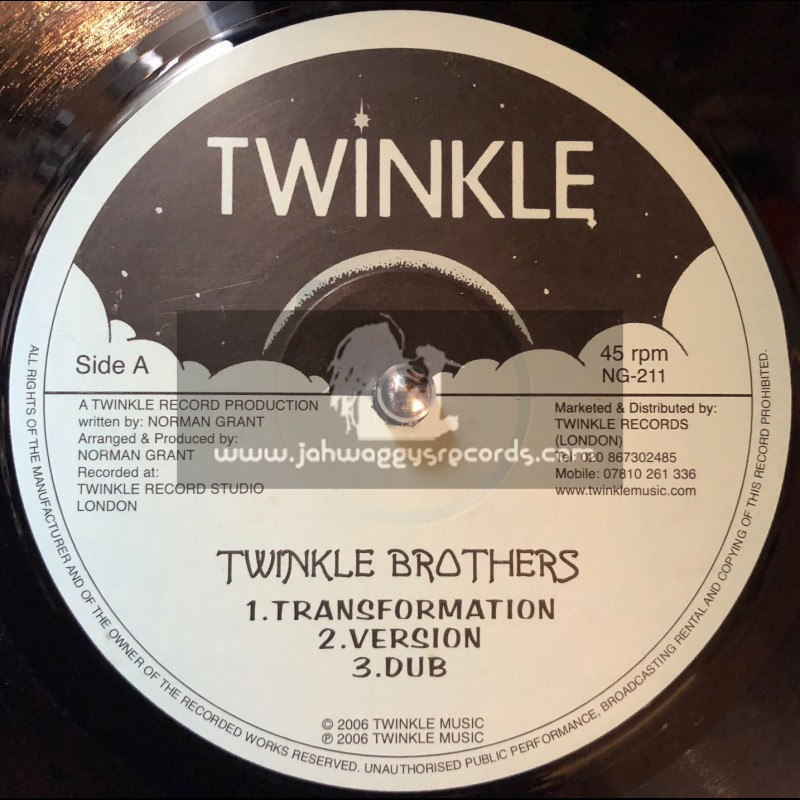 """Twinkle-12""""-Transformation + Africa Get Enough Punishment / Twinkle Brothers"""