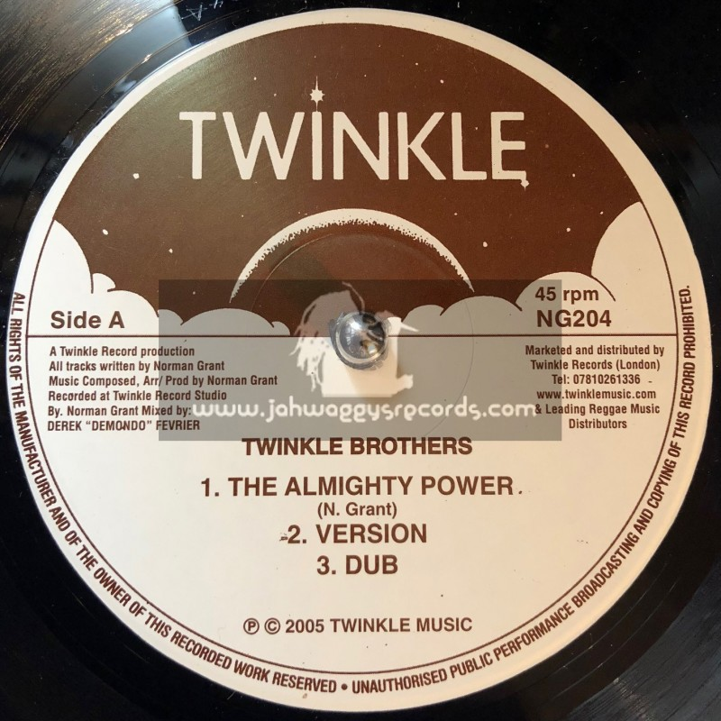 """TWINKLE BROTHERS-12""""-THE ALMIGHTY POWER + BABYLON IS FALLING DOWN / THE TWINKLE BROTHERS"""