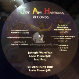 "Joy And Happiness Records-12""-Jahngle WarriYah/Locks Messenjah Feat.Ras J + Justice And Hope/Locks Messenjah Feat.Frank Abrams"