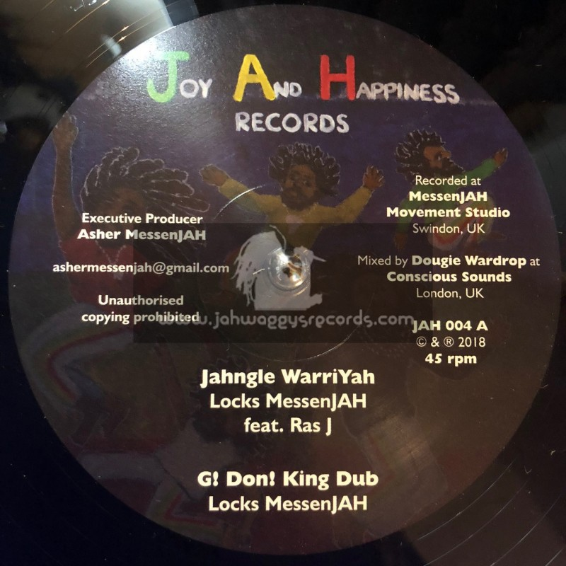 """Joy And Happiness Records-12""""-Jahngle WarriYah/Locks Messenjah Feat.Ras J + Justice And Hope/Locks Messenjah Feat.Frank Abrams"""
