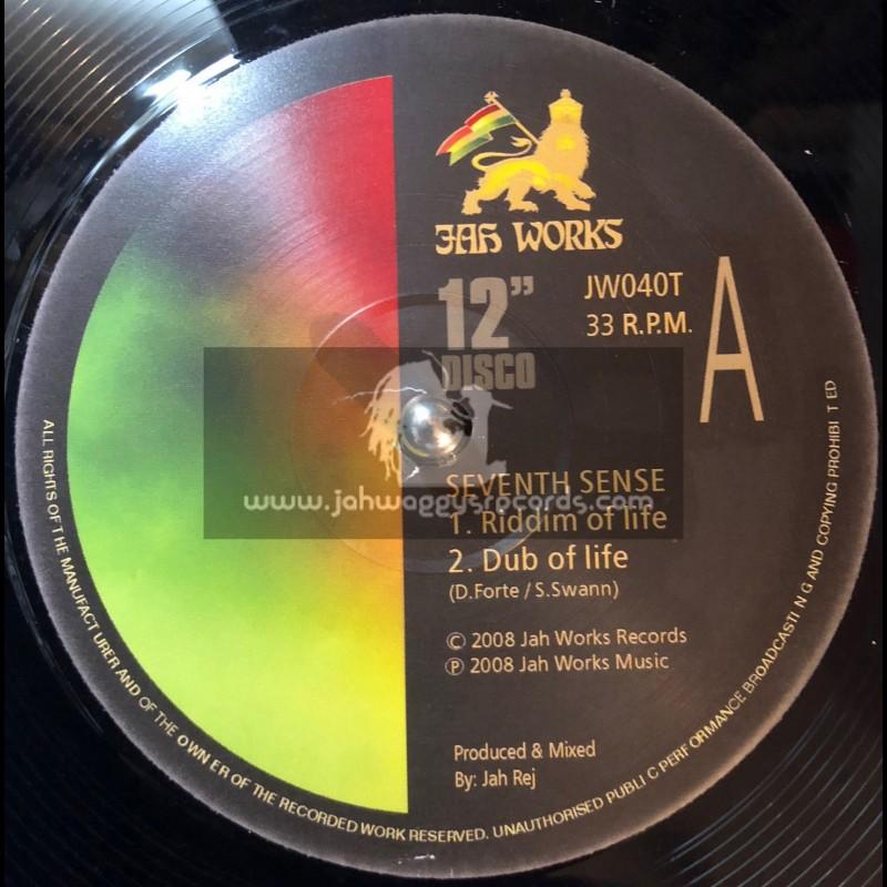 "JAH WOORKS 12""-SEVENTH SENSE-RIDDIM OF LIFE + SHAKA IN AFRICA"