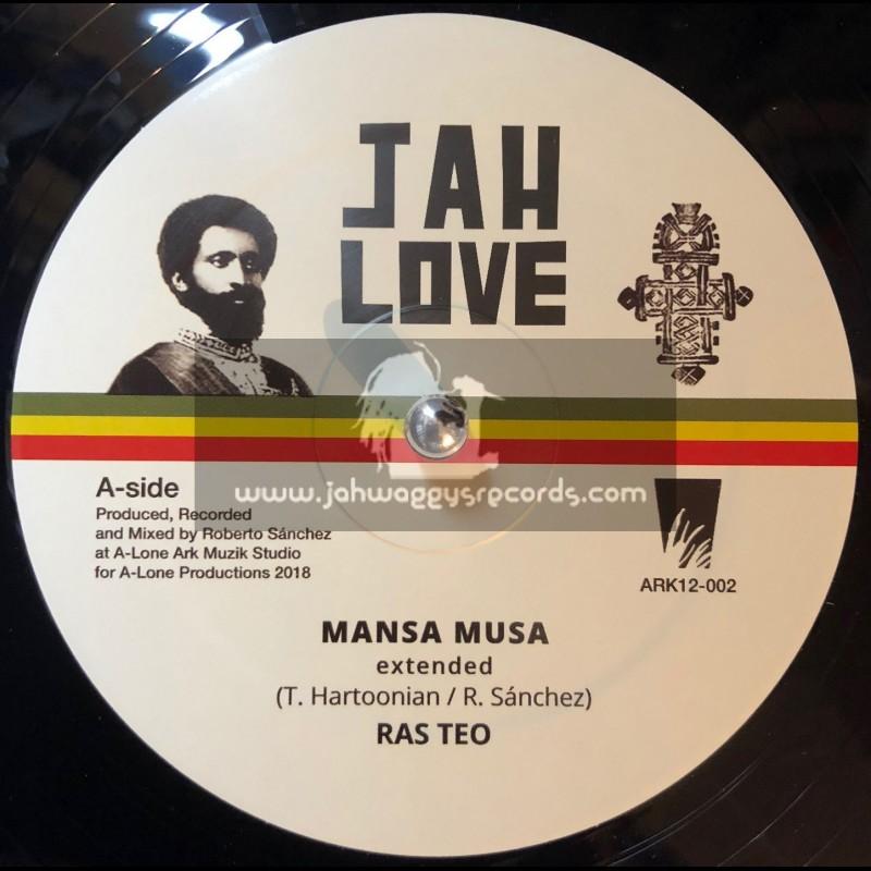 "Jah Love-12""-Mansa Musa / Ras Teo Meets Roberto Sanchez + Bad Friday / Ras Teo Meets Roberto Sanchez"