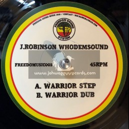 """Freedom Sound Music-7""""-Warrior Step / Whodemsound J. Robinson"""