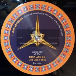 """I Lion Records-12""""-Live Like A King / Fikir Amlak"""