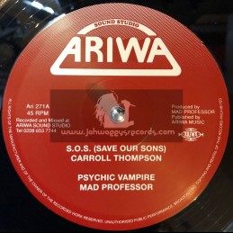 "Ariwa-12""-S.O.S (Save Our Sons) / Carroll Thompson + Cant Keep A Good Man Down / Carroll Thompson"
