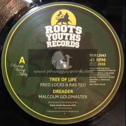 """Roots Youths Records-12""""-Tree Of Life / Fred Locks And Ras Teo + Dreader / Malcolm Goldmaster"""