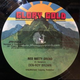 "Glory Gold-Jah Fingers-12""-Red Natty Dread / Den Roy Brown + Jaclyn / Den Roy Brown"