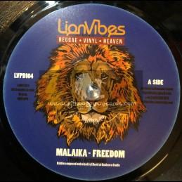 "Lion Vibes-7""-Freedom / Malaika + Freedom Dub / I David"