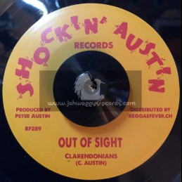 """Shockin' Austin-7""""-Out Of Sight / Clarendonians"""