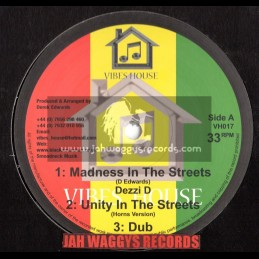 """VIBES HOUSE-10""""-MADNESS IN THE STREETS + HYPOCRITES & PARASITES/DEZZI D"""