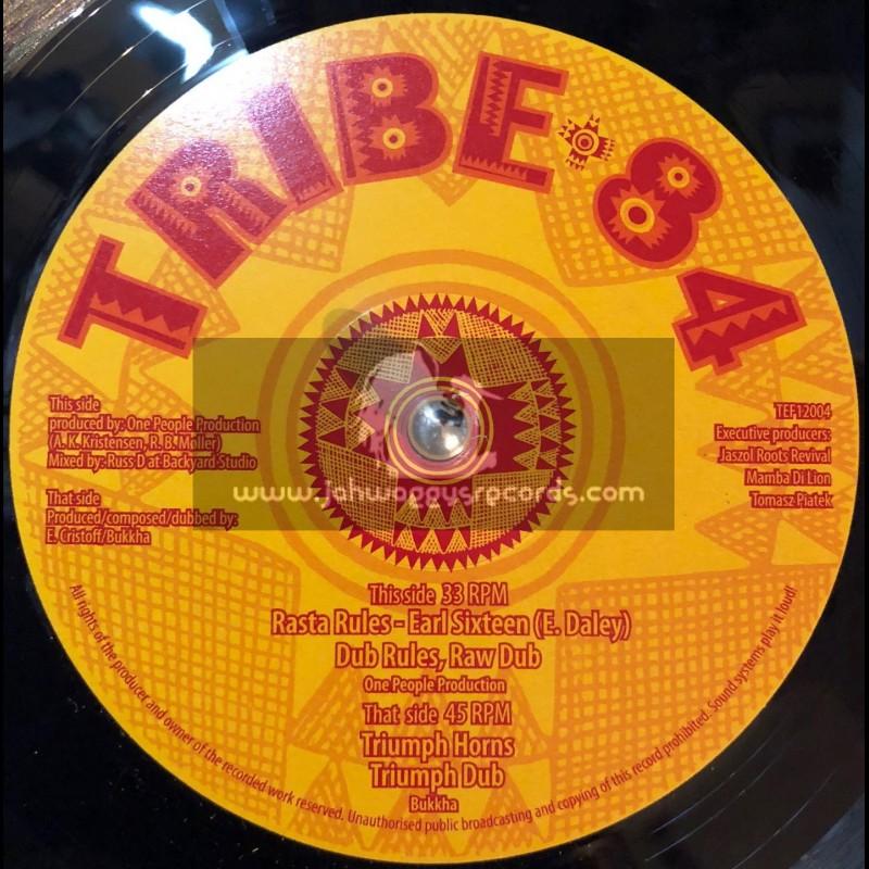 "Tribe 84-12""-Rasta Rules / Earl Sixteen + Triumph Horns / Bukkha"