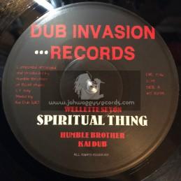 "Dub Invasion Records-7""-Spiritual Thing / Wellette Seyon + Spiritual Dub / Humble Brother Meets Kai Dub"