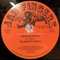 """Jah Fingers-12""""-Rasta Business / The Mighty Threes + Sata / Mighty Threes"""