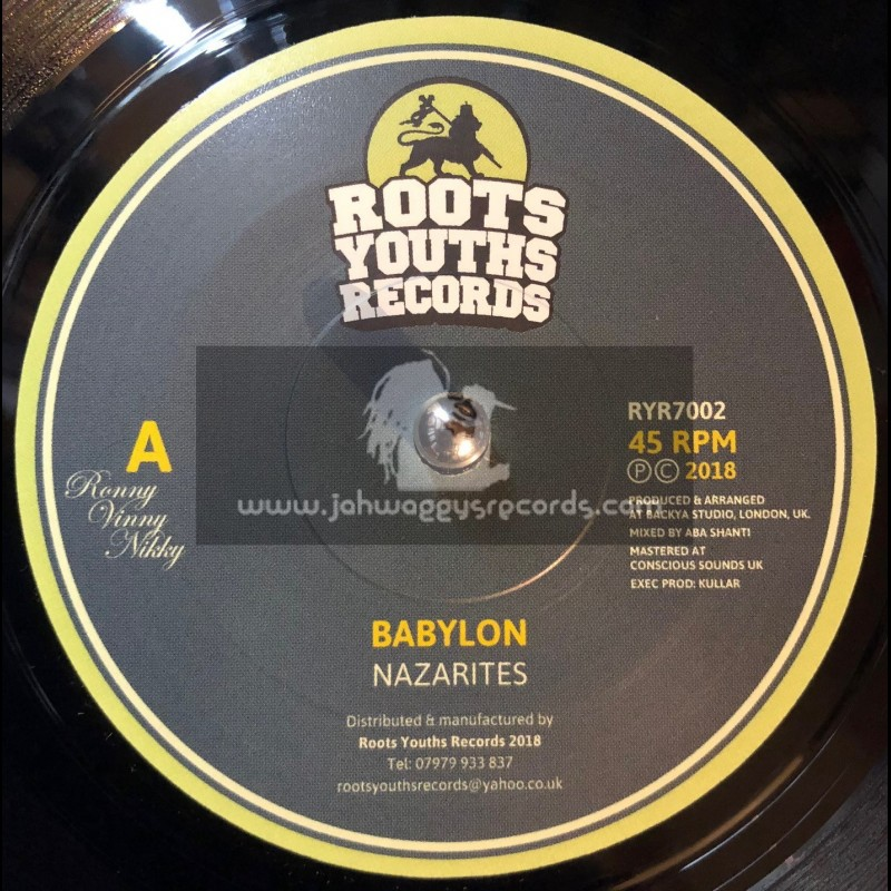 """Roots Youths Records-7""""-Babylon / Nazarites"""