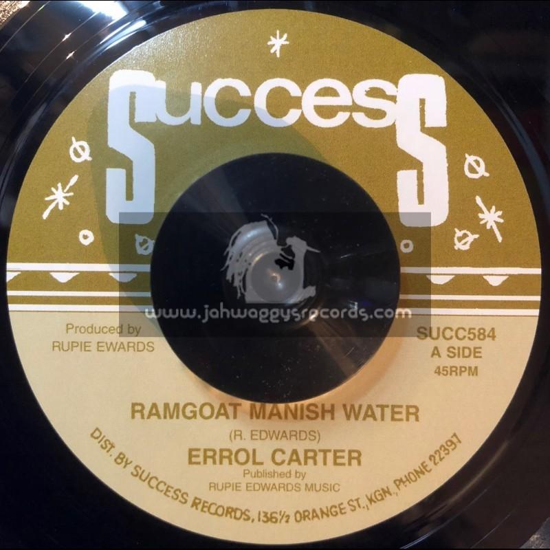 "Success-7""-Ramgoat Manish Water / Errol Carter + Bada Dub / Rupie Edwards All Stars"