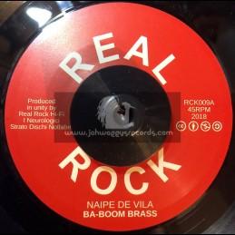 """Real Rock-7""""-Sound De Villa / Laylah Arruda + Naipe De Vila / Ba Boom Brass"""