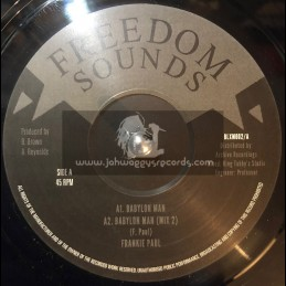 "Freedom Sounds-12""-Babylon Man / Frankie Paul"