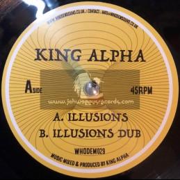 "Whodemsound Records-7""-Illusions / King Alpha"