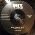 """Roots Records-7""""-World Under Siege / Chronixx"""