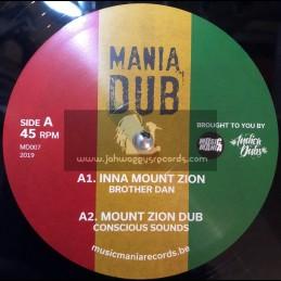 "Mania Dub-10""-Inna Mount Zion / Brother Dan + Prophecy Step / Mystical Steppa"