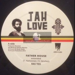 "Jah Love-12""-Father House / Ras Teo + In My Vision / Ras Teo"