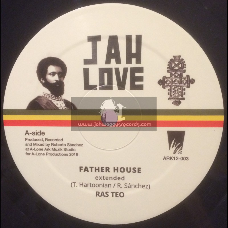 """Jah Love-12""""-Father House / Ras Teo + In My Vision / Ras Teo"""