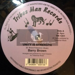 """Tribes Man Records-12""""-Unity Is Strength / Barry Brown + Higher Region / Drumie Benji"""