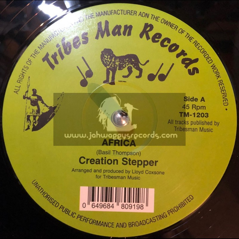 """Tribes Man Records-12""""-Africa / Creation Stepper"""