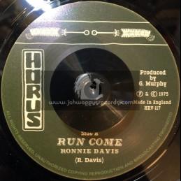 "Horus Records-7""-Run Come / Ronnie Davis"