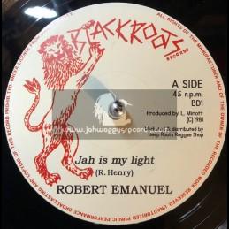 "Black Roots Records-7""-Jah Is My Light / Robert Emmanuel"