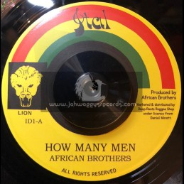 """Ital-7""""-How Many Men / African Brothers"""