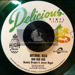 """Delicious Vinyl Island-7""""-Run Run Run / Denis Brown & Jessie Royal"""