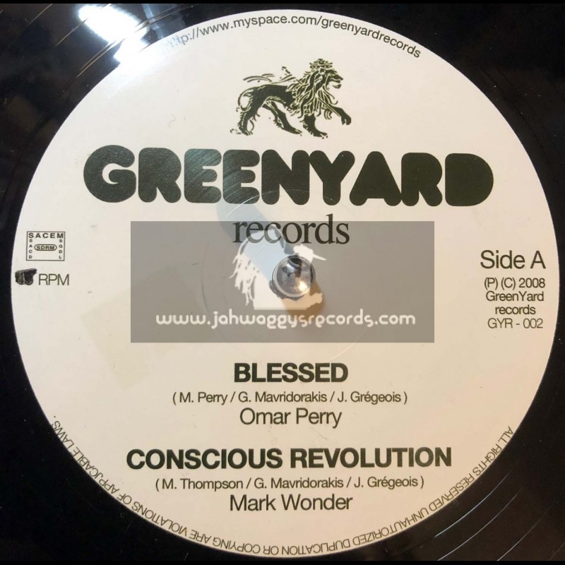 """Greenyard Records-12""""-Blessed / Omar Perry + Conscious Revolution / Mark Wonder"""