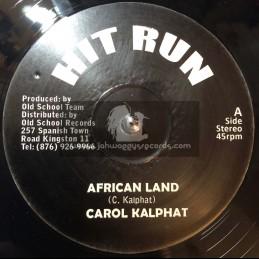 "Cry Tuff-Hit Run-12""-African Land / Carol Kalphat"