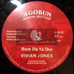 "Agobun Riddim Section-12""-Rock Dis Ya One / Vivian Jones + Wickedness / Vivian Jones"