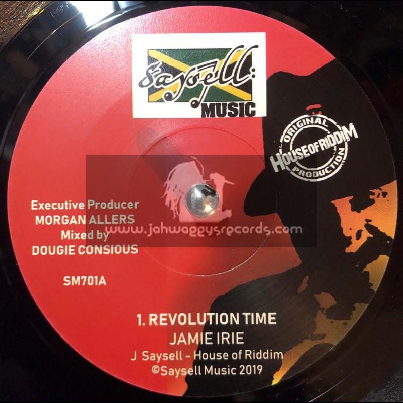 "Saysell Music-7""-Revolution Time / Jamie Irie + Revolution Dub / House Of Riddim"
