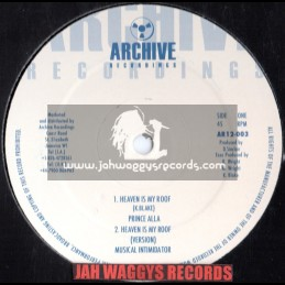 "ARCHIVE RECORDINGS-12""-HEAVEN IS MY ROOF/PRINCE ALLAH + DONT GIVE IT UP - ROD TAYLOR"