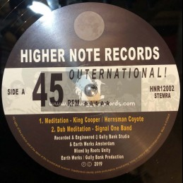 """Higher Note Outernational-12""""-Meditation / King Cooper + Midnite / Ras P & Signal One Band"""