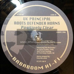 "Bababoom Hi Fi-12""-Positively Clear / UK Principal + Let Jah Love Come True /  Prince Malachi"