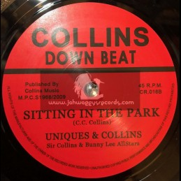 """Collins Down Beat -7""""-Sitting In The Park /  Uniques & Sir Collins"""