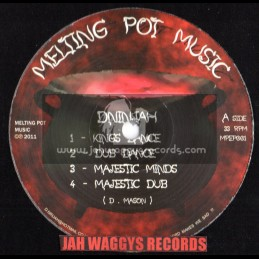 "MELTING POT MUSIC-12""-KINGS DANCE-MAJESTIC MINDS/DNINJAH+CRUCIAL DUB-IMPERIAL DUB/MONTY DAN"