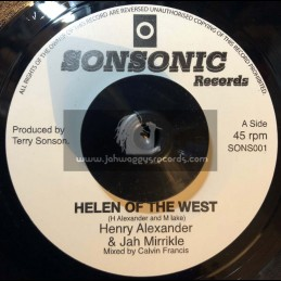 """Sonsonic Records-7""""-Helen Of The West / Henry Alexander & Jah Miricle"""
